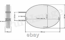 LED 22x32 Double Sided Outdoor Oval Projecting Light Box Sign 55x80cm