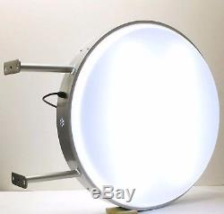 LED 60CM Double Sided Outdoor Round Projecting Light Box Sign D60 Plain