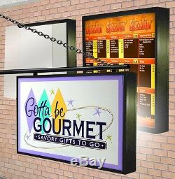 LED Illuminated LIGHTBOX (2) Double Sided Outdoor with SIGN GRAPHICS 3'X4' 9