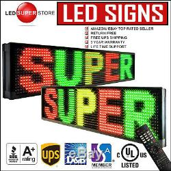 LED SUPER STORE 3C/RGY/IR/2F 19x52 Programmable Scroll. Message Display Sign