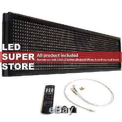 LED SUPER STORE 3C/RGY/IR/2F 19x69 Programmable Scroll. Message Display Sign