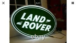 Land Rover Double Sided Illuminated Sign Garage Dealership 90 110 Off Road