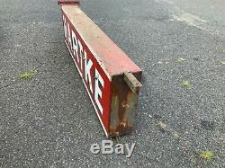 Large 7 Double Sided Antique Metal Neon Sign HARTKE Vintage Signage Originally