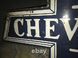 Large Chevrolet Double Sided Porcelain Sign