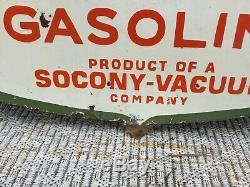 Large General Gasoline Double Sided Porcelain Sign