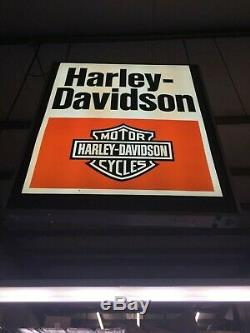 Large Incredible Huge Vintage Harley Davidson Double Sided Store Sign 6ft Tall