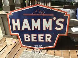 Large Old Hamms Beer Double Sided Sign