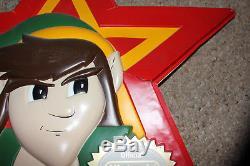 Legend Of Zelda Nintendo NES Link Promotional Display Sign Vintage Double Sided
