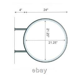 Light Box 60cm Circular Round LED Projecting Double Sided Blank Illuminated Sign