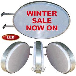 Light Box Signs SALE Oval LED Projecting Illuminating Blank Double Sided Sign