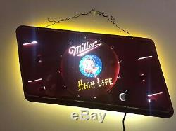 Miller High Life The Champagne of Beer Sign Double Sided light-up 1940's