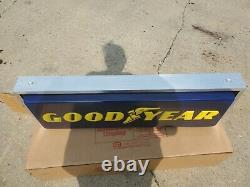 New Lighted Dealer Sign Goodyear Tire 12 X 36 Double Sided Hanging Sign New