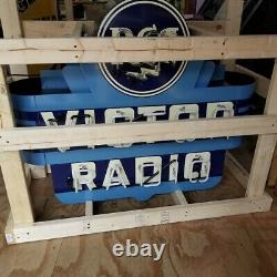 New RCA Victor Radio Double Sided Neon Sign 48W x 42H Neon Signs Lifetime Warr