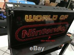 Nintendo World of Nintendo Double Sided Fiber M36A Store Display Sign