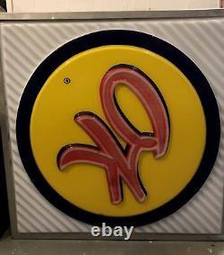 OK Used Car Sign Original General Motors Dealership Double Sided 1950s, 1960s