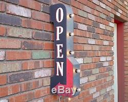 OPEN Plug-In or Battery Double Sided Enter Entrance Metal Marquee Light Up Sign