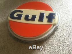 Old Gulf Service Station Lighted Sign Double Sided