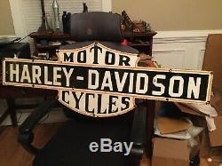 Old Harley Double Sided Porcelain Sign 50