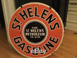 Old St. Helens Gasoline Double Sided Porcelain Sign