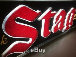 Old Vintage STAG Beer Lighted Sign Double Sided Adverting. Beautiful, RARE