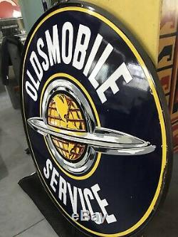 Oldsmobile Service 60 DSP Double Sided Porcelain Sign