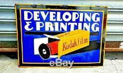 Original 1930's KODAK Heavy Double Sided PORCELAIN SIGN