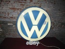 Original 1960s Volkswagen VW Lollipop Double Sided Lighted Sign