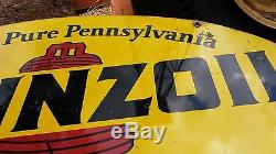 Original 1970 Pennzoil Double Sided Metal sign