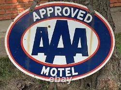 Original AAA Porcelain Motel Sign Double Sided with Hanger DSP Antique Vintage