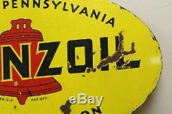 Original Pennzoil Double Sided Porcelain Sign