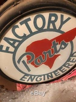 Original Pontiac Double Sided Factory Engineered Parts Sign 1940's