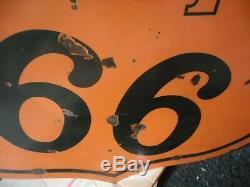 Original Porcelain Phillips 66 Sign Veribrite Signs Chicago 47 Double Sided