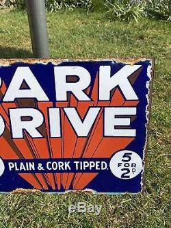 Original Vintage Enamel Sign for Park Drive Double Sided 1930s Early One