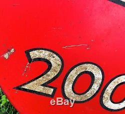Original Vintage Kendall 2000 Mile Motor Oil Sign Metal Double Sided 36 40-50s
