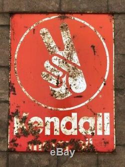 Original Vintage Kendall Motor Oil Sign Metal Double Sided