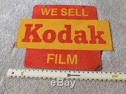 Original We Sell Kodak Film Advertising Sign Double Sided Metal