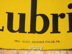 PENNZOIL EARLY DOUBLE SIDED PORCELAIN SIGN 31x 18ING-RICH-BEAVER FALLS PA