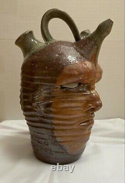 Peter Lenzo Double Sided Face Jug Signed & Dated
