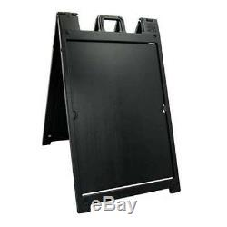 Plasticade Signicade Portable Folding Double Sided Sign Stand, Black (Open Box)