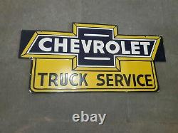 Porcelain Chevrolet Truck service Sign 36 X 18 Inches double sided