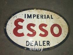 Porcelain Esso Imperial Enamel sign 36 x 24 Inches Double Sided