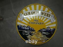 Porcelain Golden West Enamel Sign Size 30 Inch double sided
