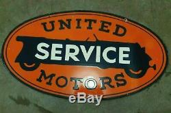 Porcelain united service motor Enamel sign size 20 X 36 inch double sided