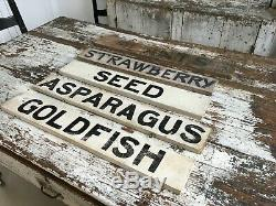 Produce Stand Antique Aafa Wood Painted Advertising Trade Signs Double Sided