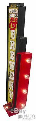 Public House & Brewery Double Sided LED Sign, Craft Beer Bar Decor Man Cave Pub