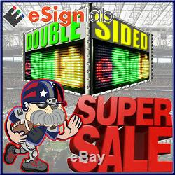 RGY 19x69 Double-Sided Double Case Outdoor Programmable Scrolling LED Sign25mm