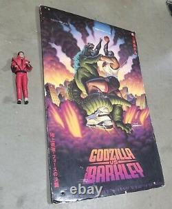 Rare Godzilla Vs. Charles Barkley Nike Store Double Sided Hanging Carboard Sign