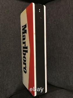 Rare Marlboro Electric Fluorescent Light Sign Double Sided 28x12 From 1995