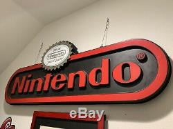 Rare Nintendo Double Sided Sign Beautiful With Seal On Top