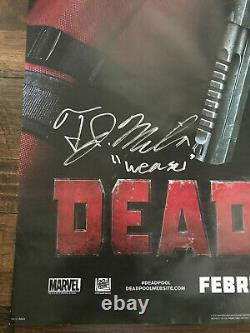 SIGNED Deadpool Movie Film Double 2 Sided Poster 27x40 D/S Ryan Reynolds & Cast